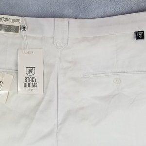 Stacy Adams Linen Cotton Mens 34X34 Pants Logo Tag